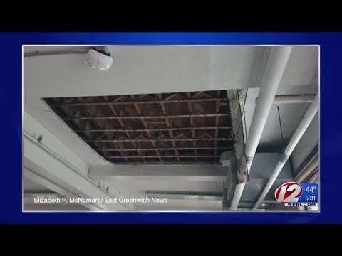 Part of East Greenwich school gym ceiling gives way during
